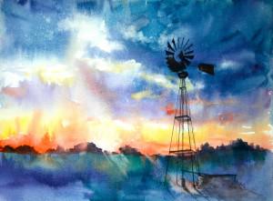WindmillAtDusk-TrishHillBellington